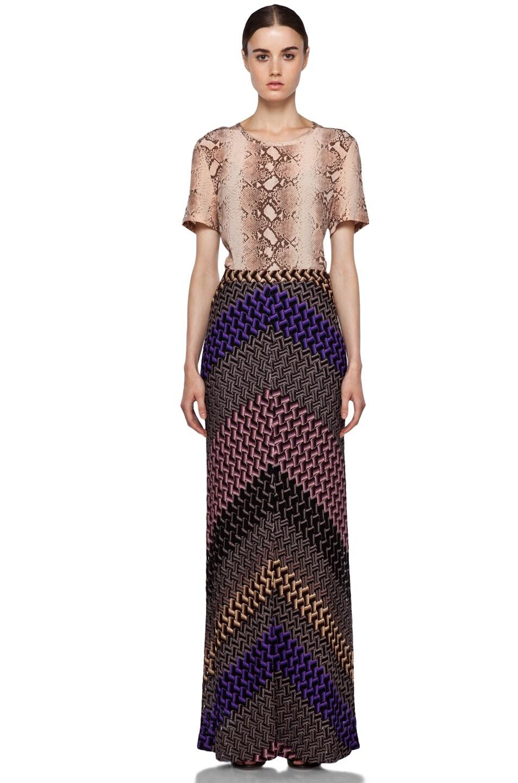 Image 5 of Missoni Maxi Skirt in Purple Multi