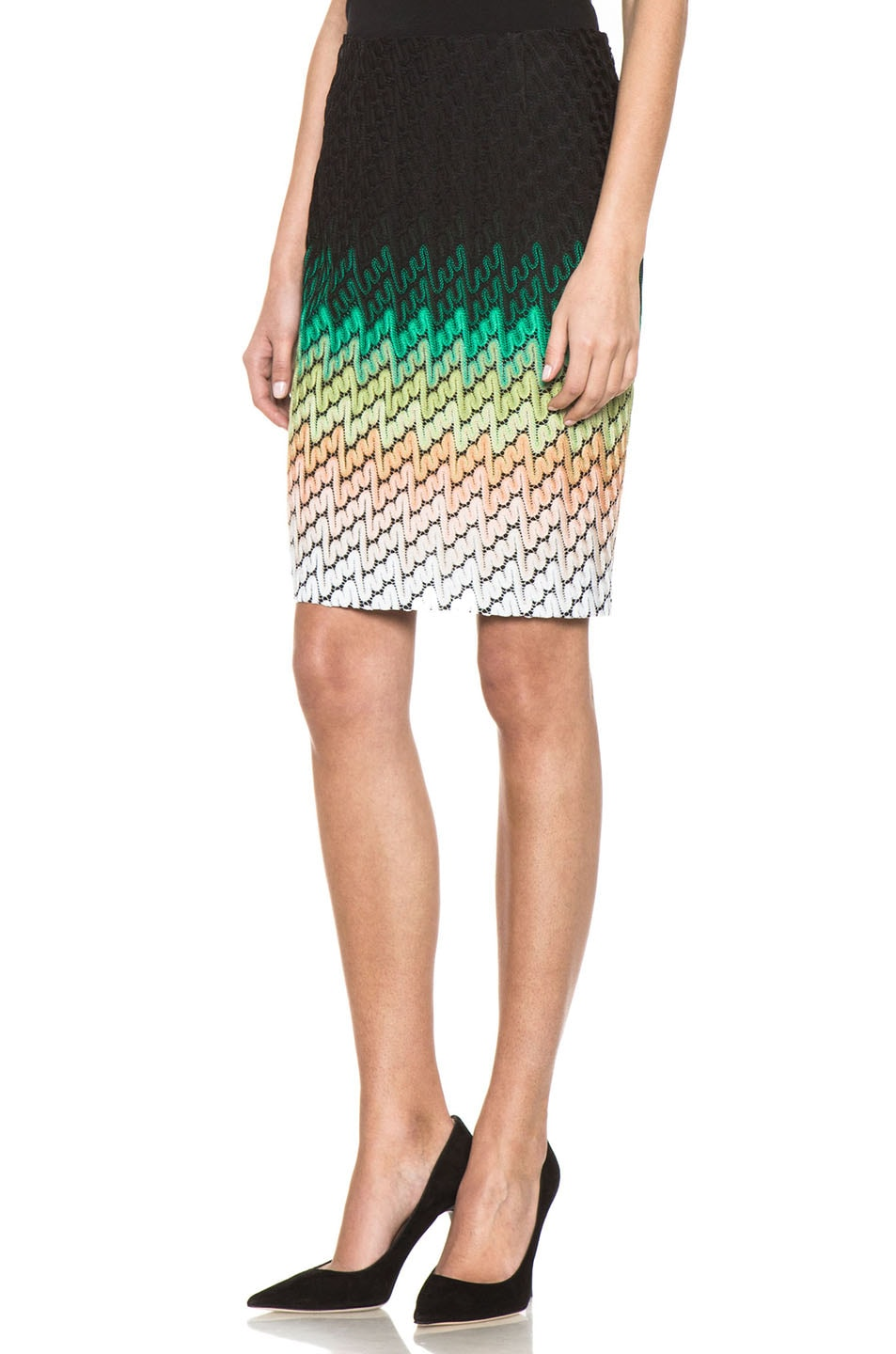 Image 2 of Missoni Knee Length Skirt in Multi