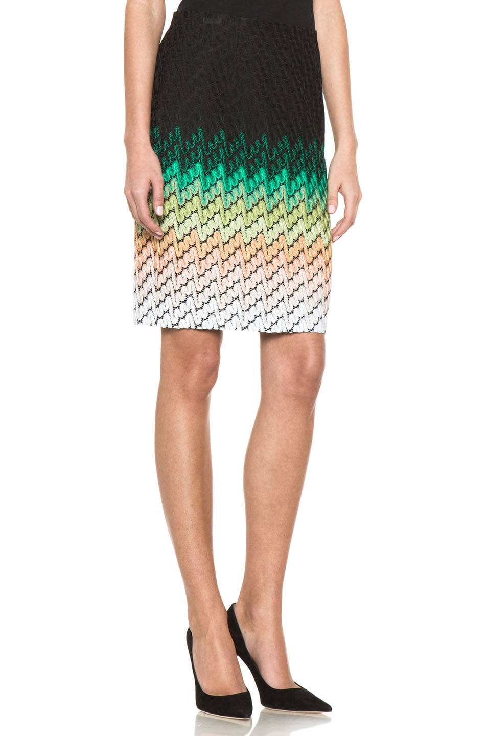 Image 3 of Missoni Knee Length Skirt in Multi