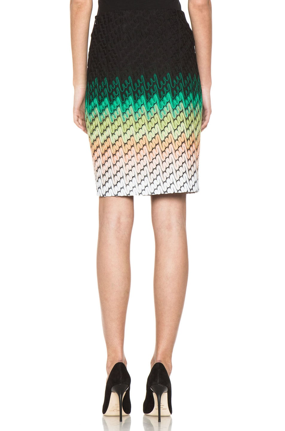 Image 4 of Missoni Knee Length Skirt in Multi