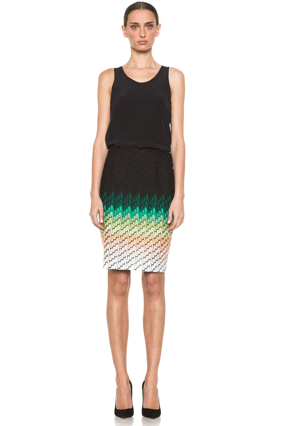 Image 5 of Missoni Knee Length Skirt in Multi