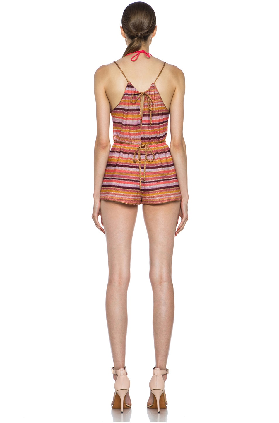 Image 4 of Missoni Short Knit Romper in Coral