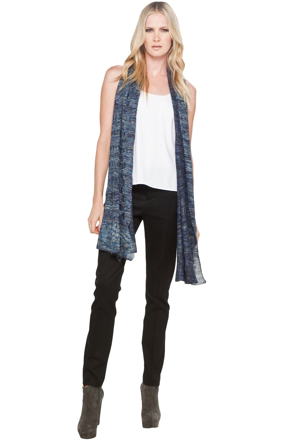Image 3 of Missoni Scarf in Blue