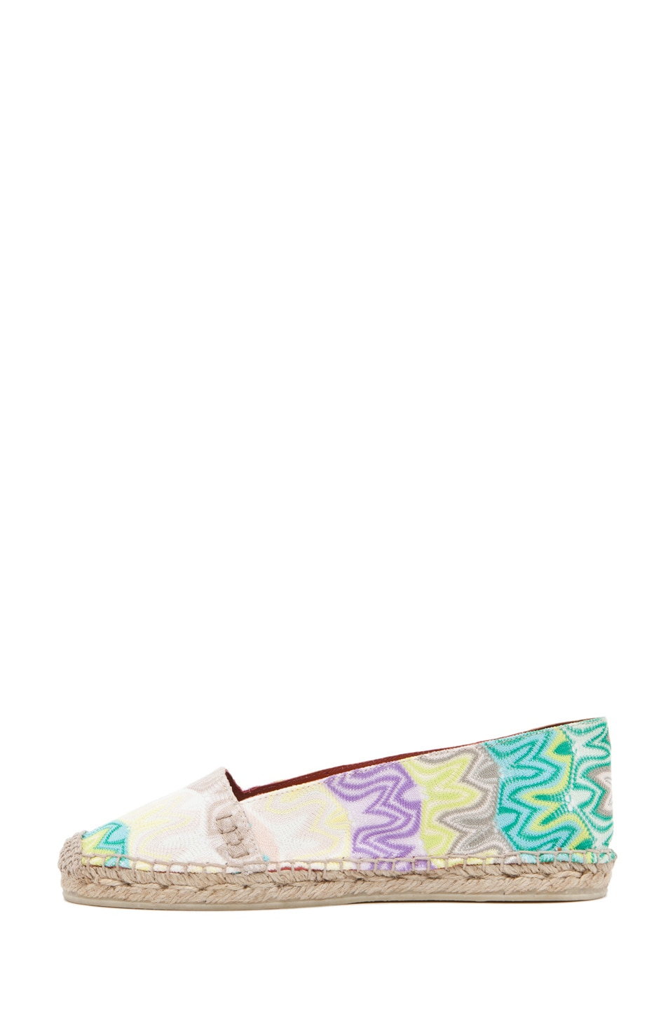 Image 1 of Missoni Espadrille Flat in Turquoise/Yellow Multi