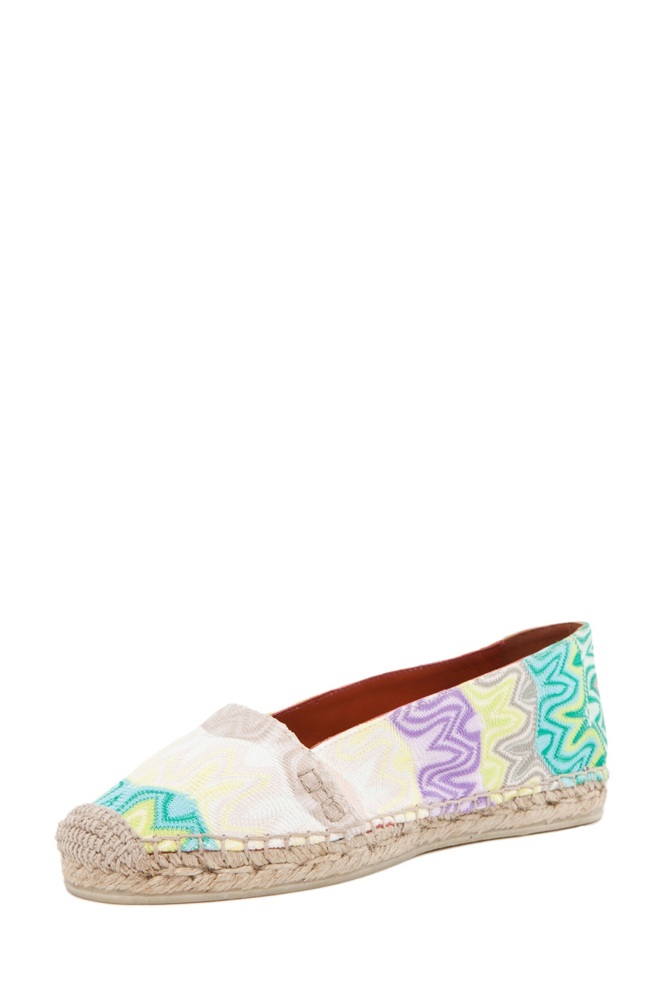 Image 2 of Missoni Espadrille Flat in Turquoise/Yellow Multi