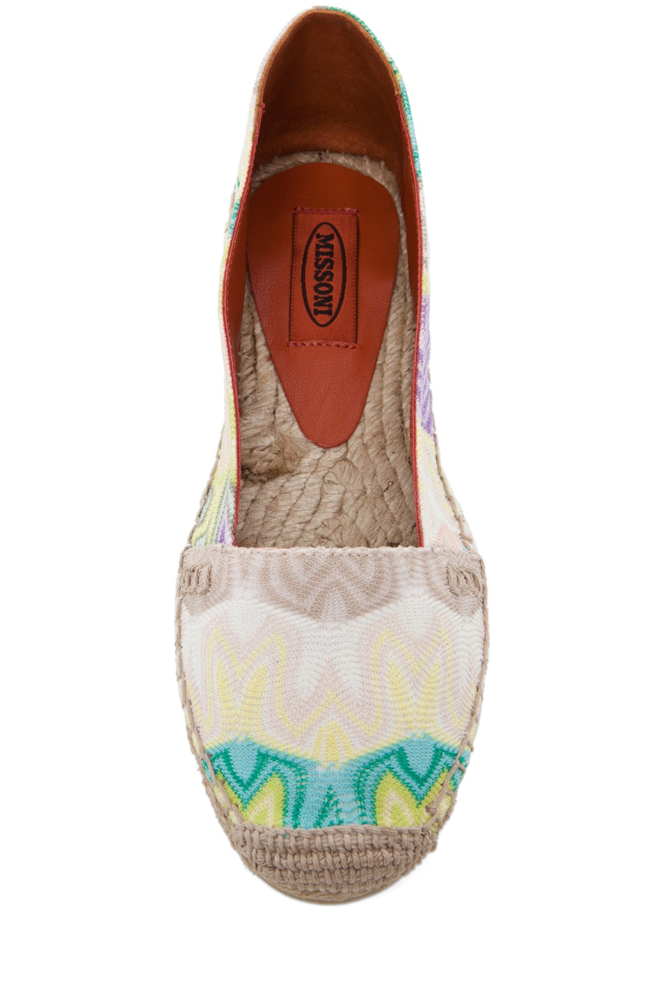 Image 4 of Missoni Espadrille Flat in Turquoise/Yellow Multi