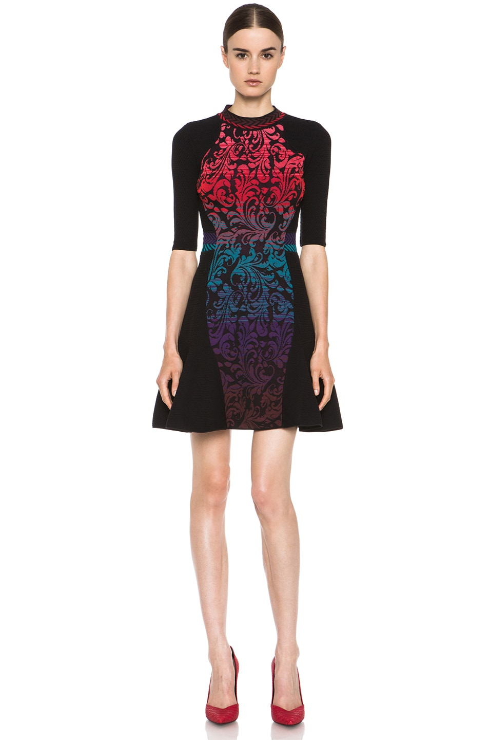 Image 1 of M Missoni Brocade Intarsia Dress in Purple
