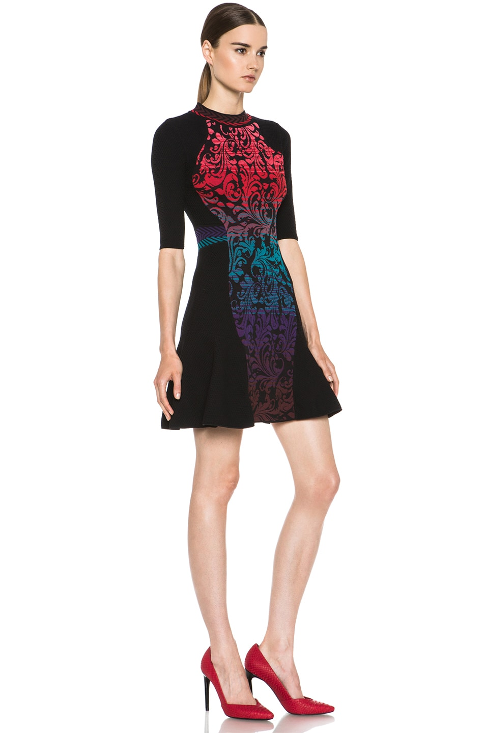 Image 3 of M Missoni Brocade Intarsia Dress in Purple