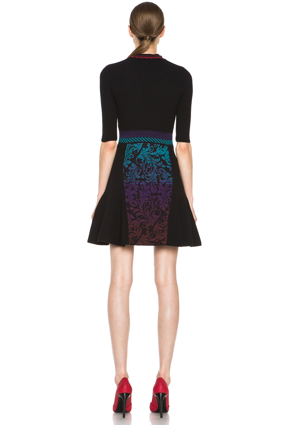 Image 4 of M Missoni Brocade Intarsia Dress in Purple