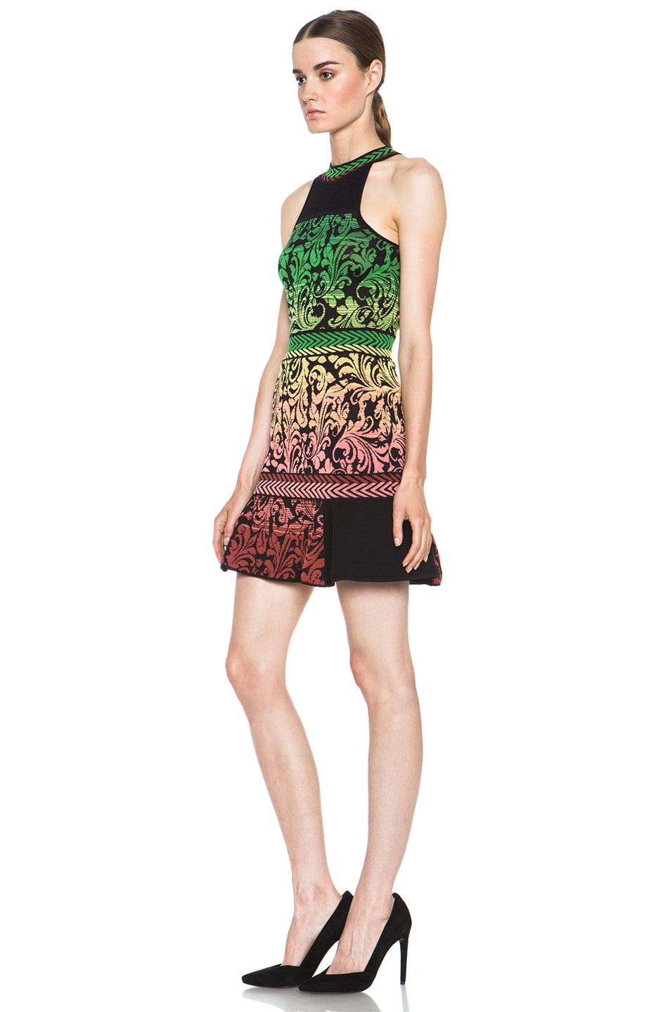 Image 2 of M Missoni Brocade Intarsia Tank Dress in Black