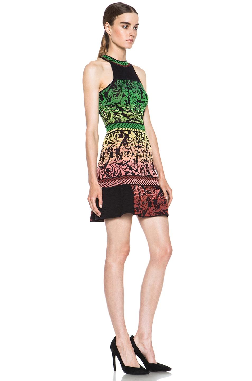 Image 3 of M Missoni Brocade Intarsia Tank Dress in Black