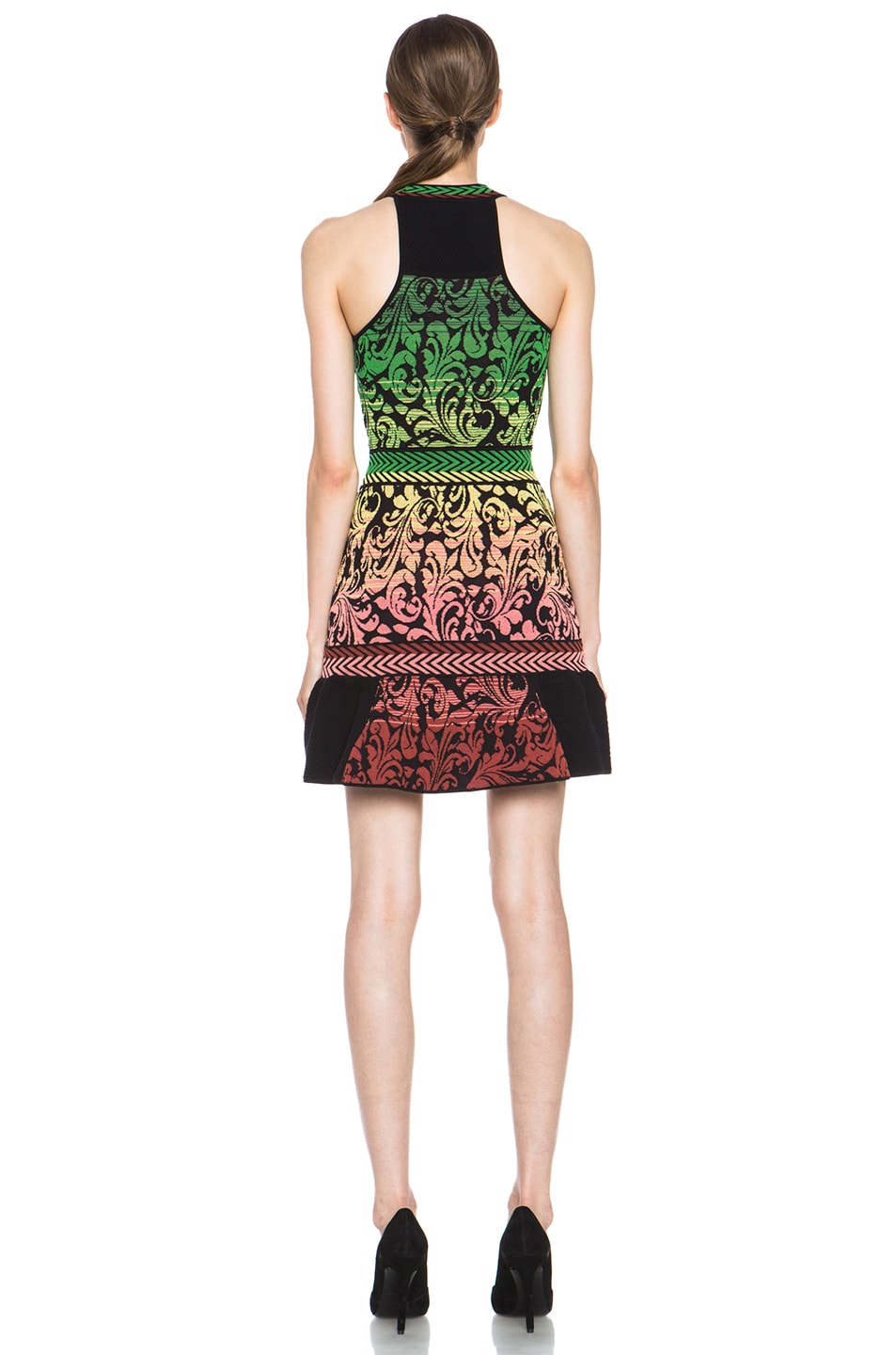 Image 4 of M Missoni Brocade Intarsia Tank Dress in Black