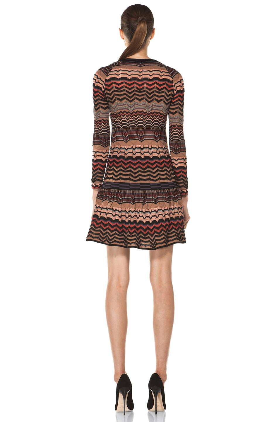 Image 4 of M Missoni Small Zig Zag Dress in Brown Multi