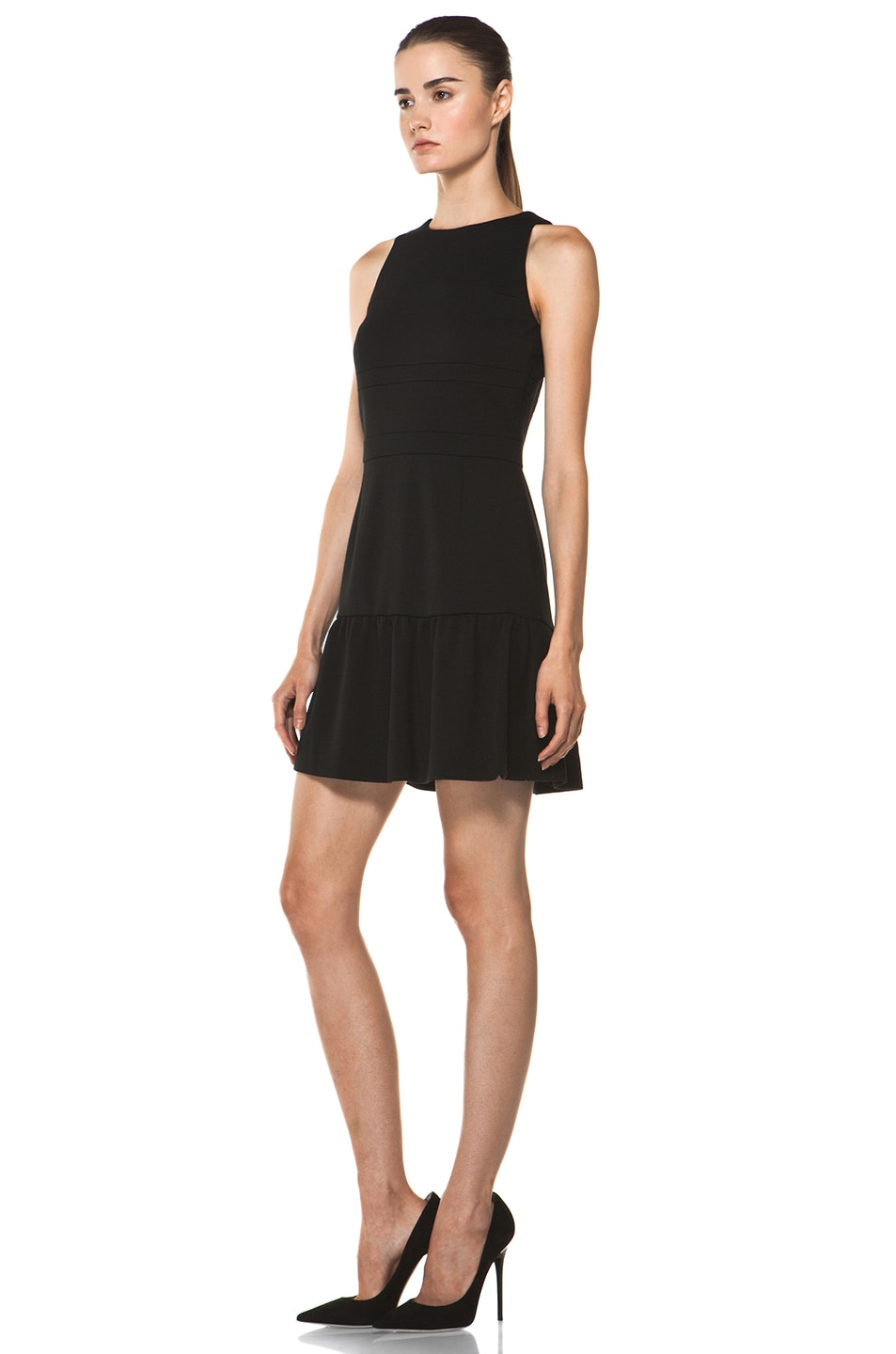 Image 2 of M Missoni Solid Double Knit Dress in Black