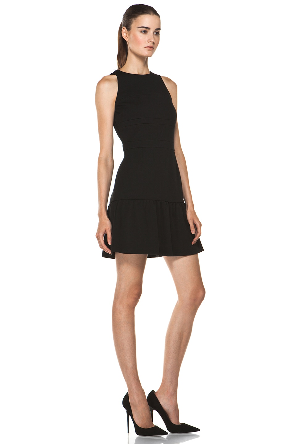 Image 3 of M Missoni Solid Double Knit Dress in Black