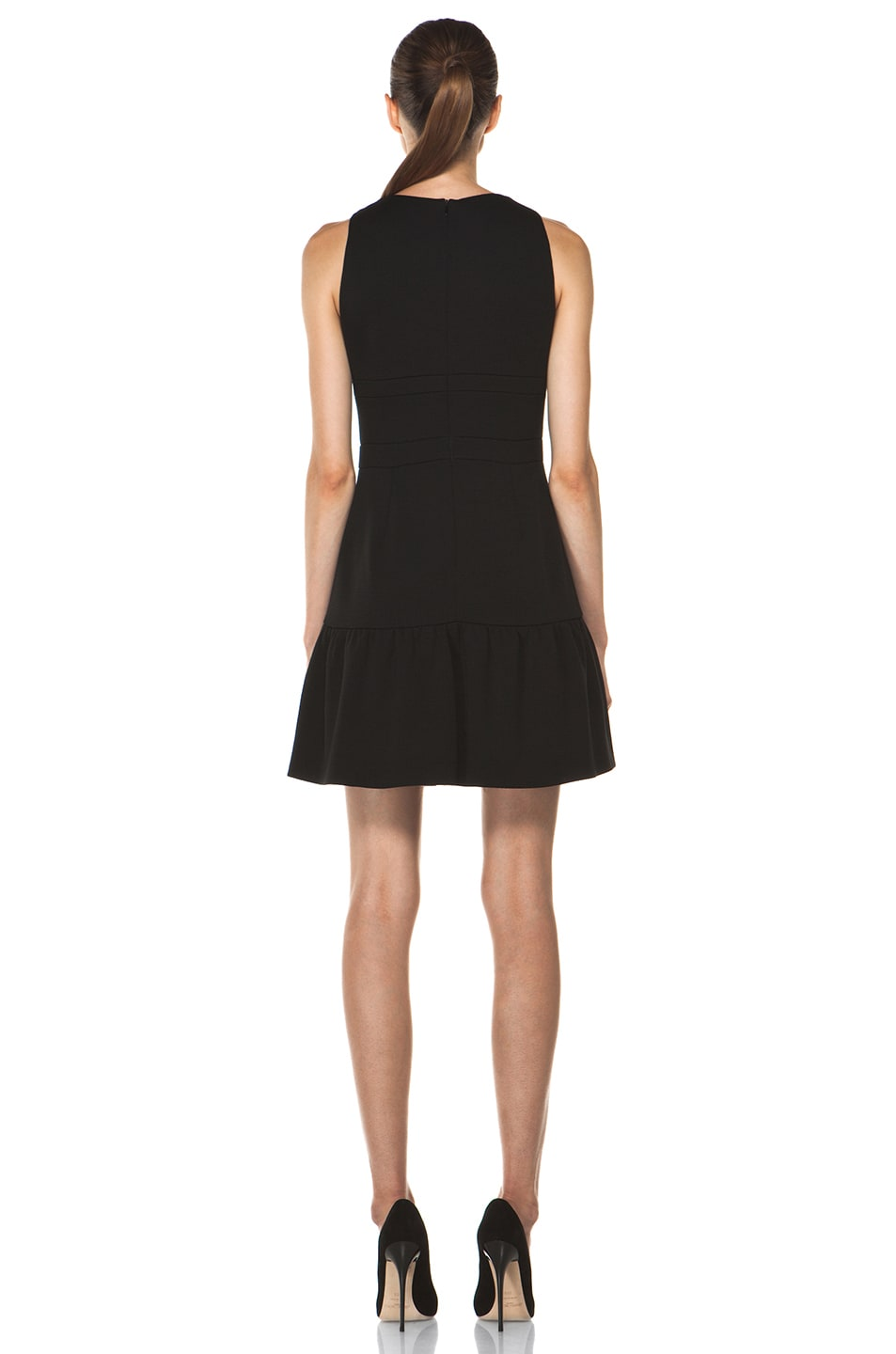 Image 4 of M Missoni Solid Double Knit Dress in Black