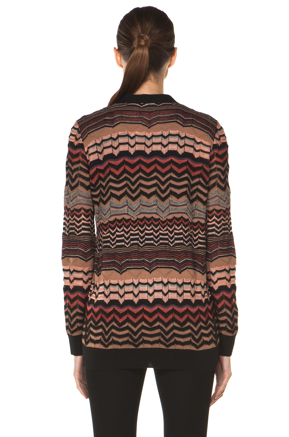 Image 5 of M Missoni Small Zig Zag Cardigan in Brown Multi