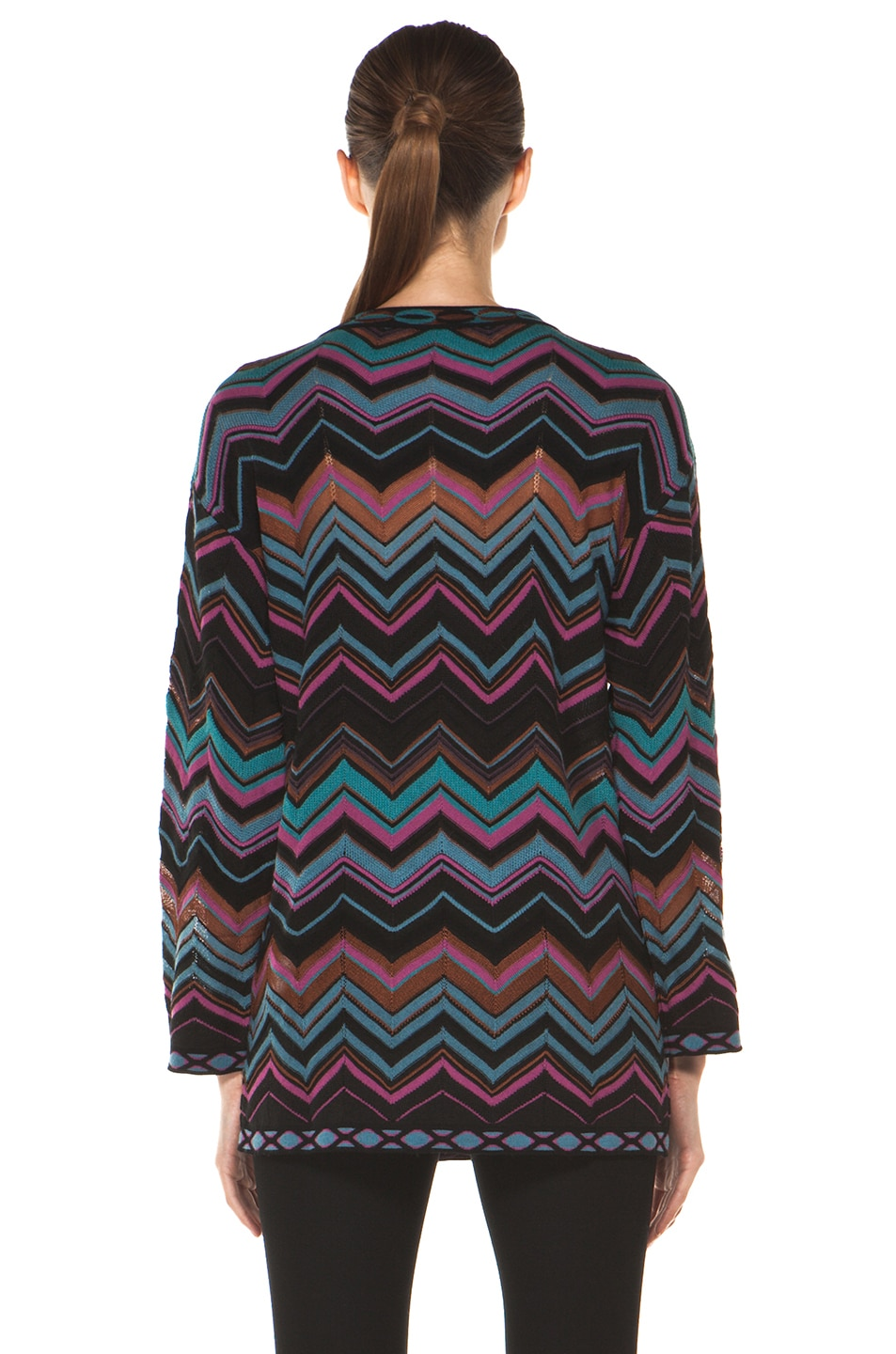 Image 4 of M Missoni Oversized Pullover Sweater in Blue Multi