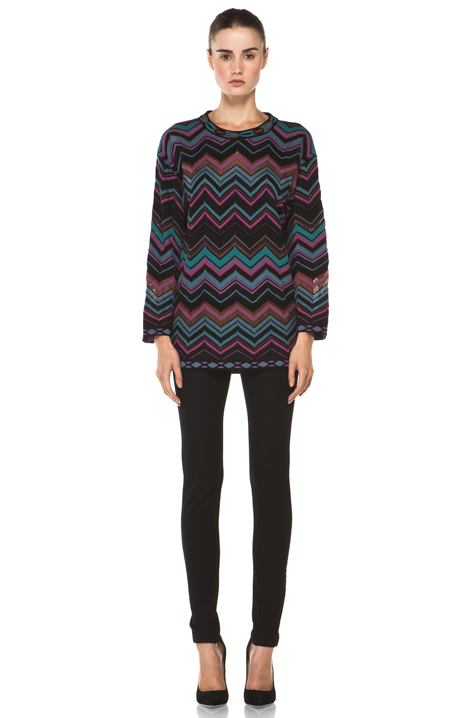 Image 5 of M Missoni Oversized Pullover Sweater in Blue Multi