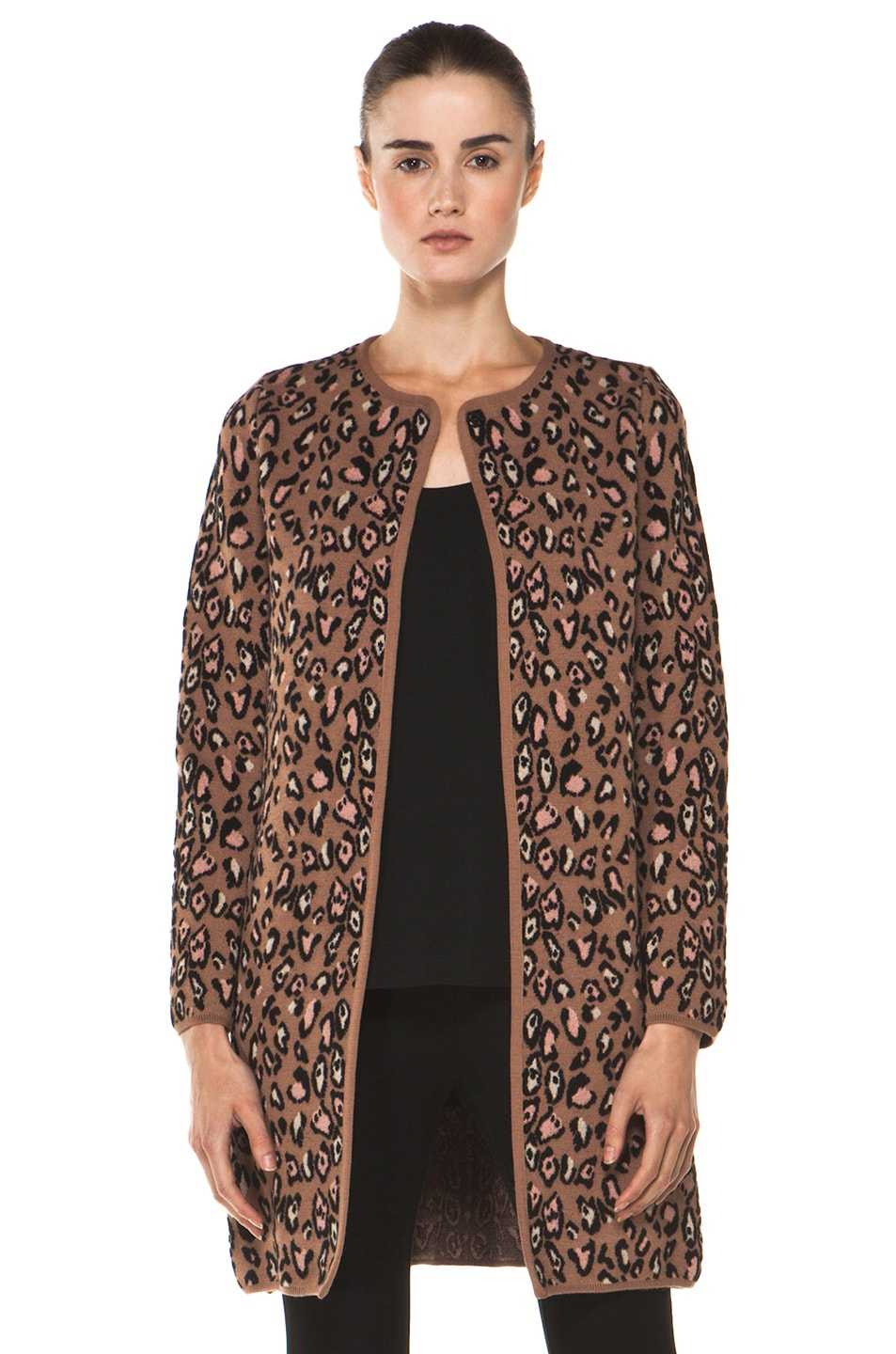 Image 1 of M Missoni Leopard Stitch Coat