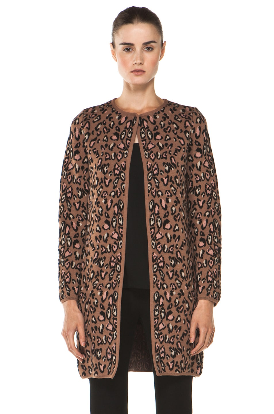 Image 2 of M Missoni Leopard Stitch Coat