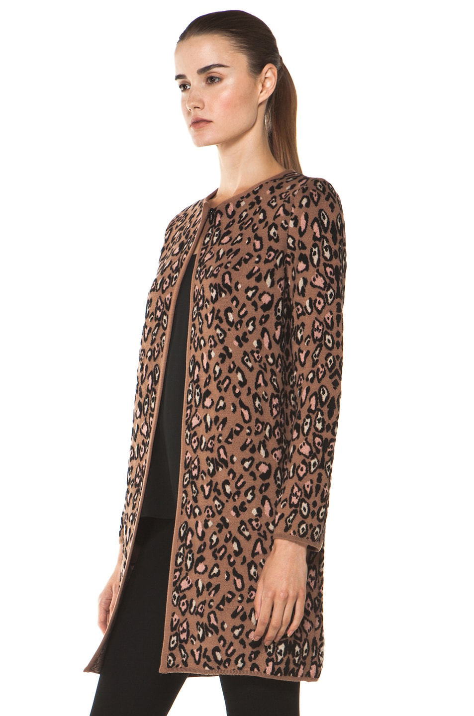 Image 3 of M Missoni Leopard Stitch Coat