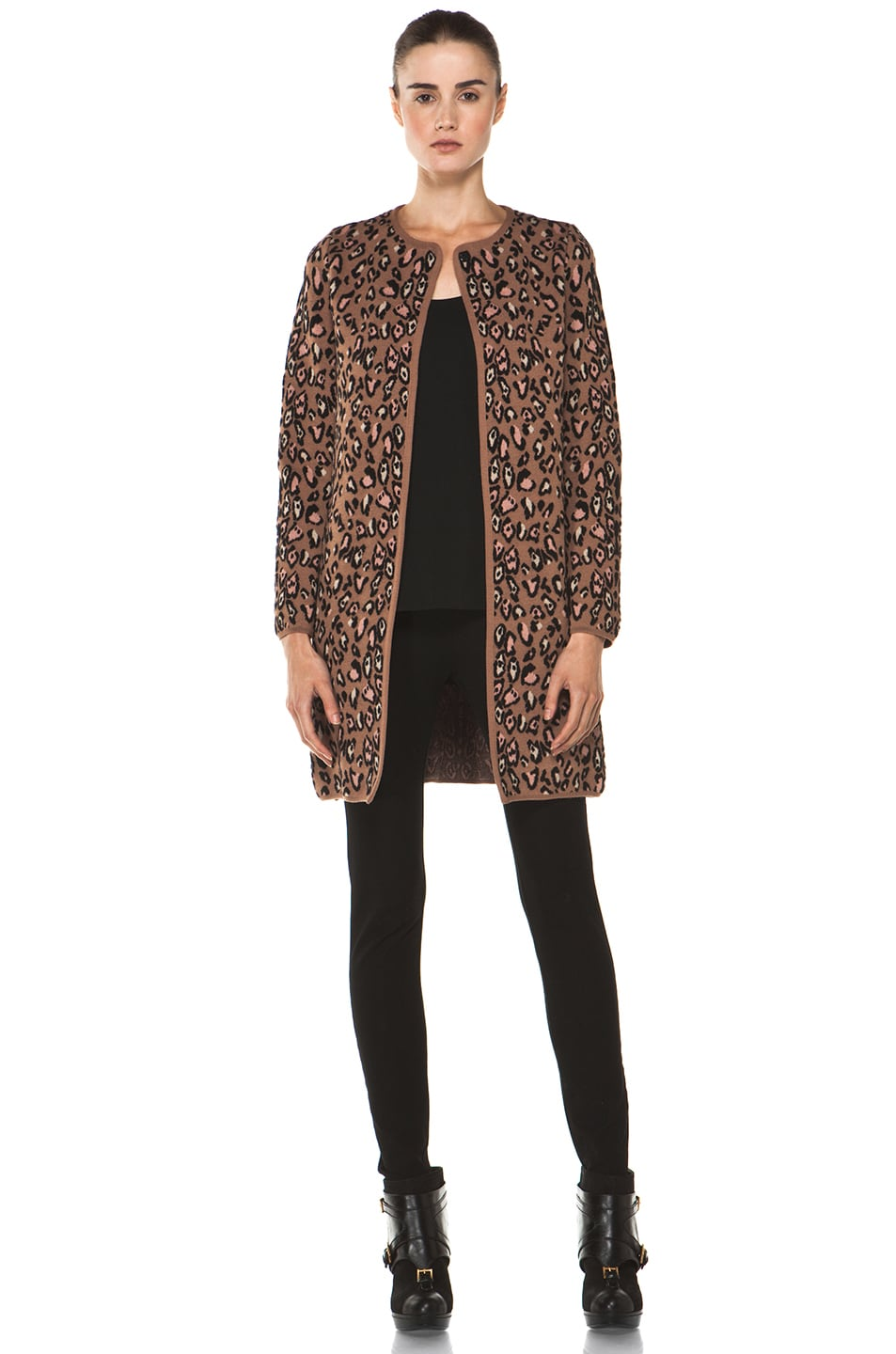 Image 6 of M Missoni Leopard Stitch Coat