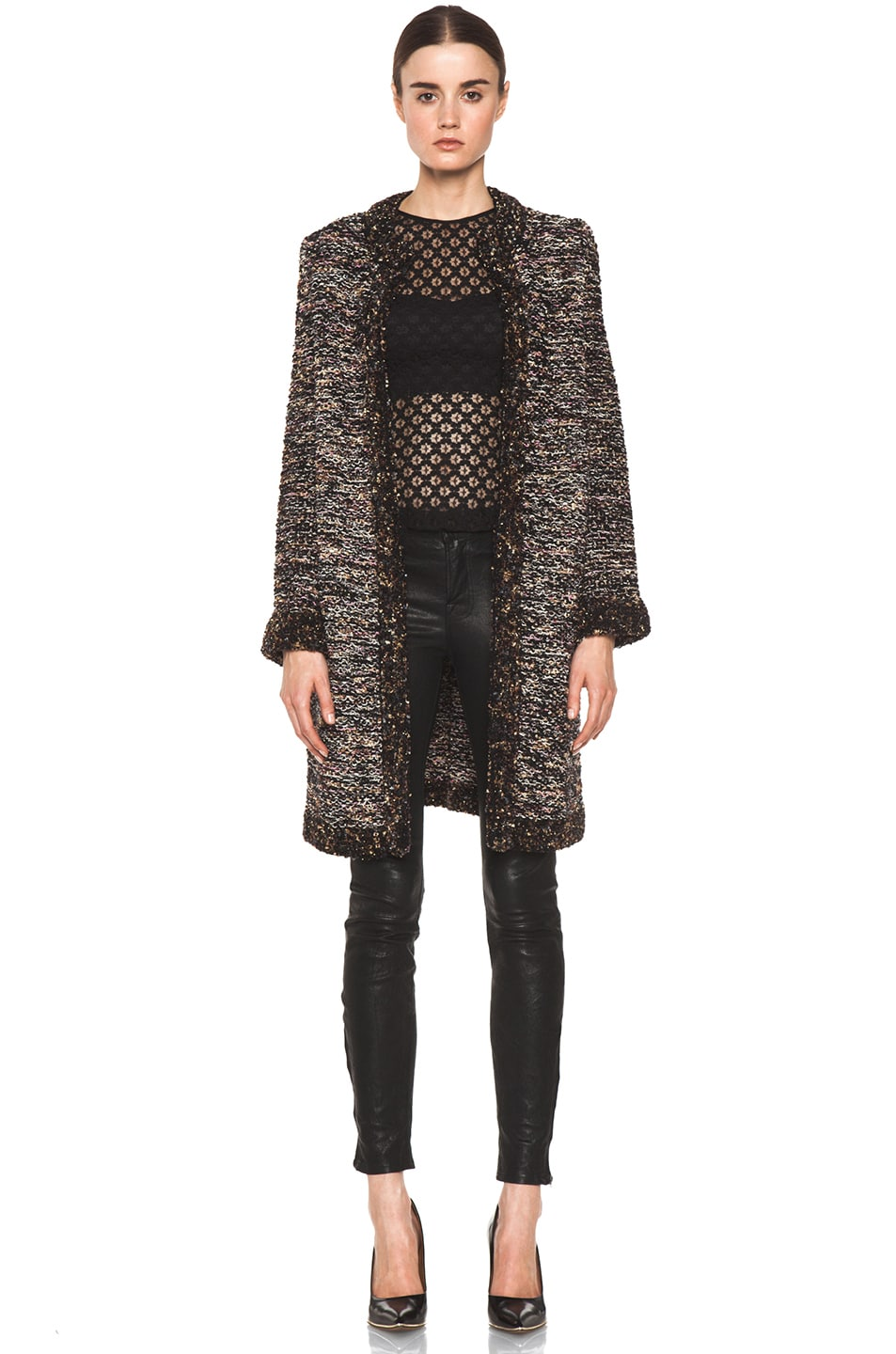 Image 1 of M Missoni Coat in Black Multi