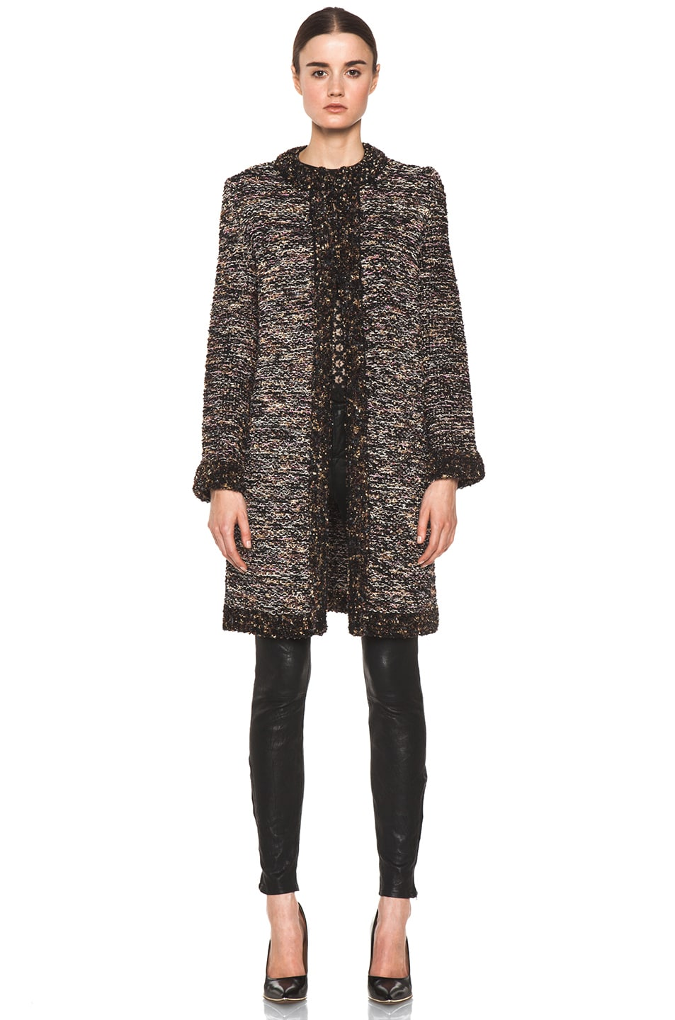 Image 2 of M Missoni Coat in Black Multi