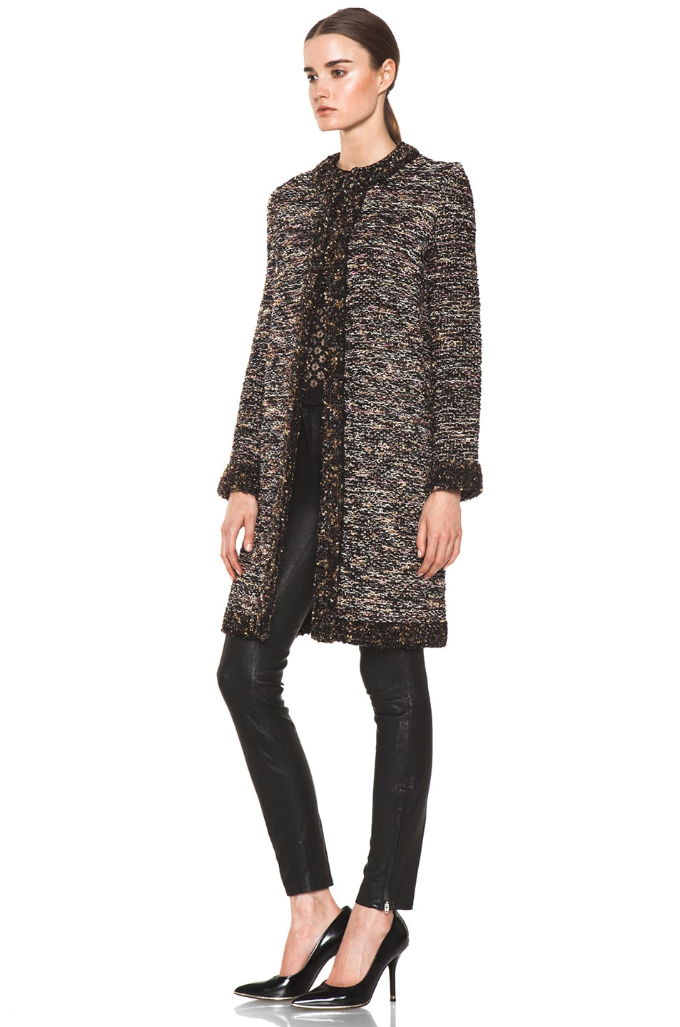 Image 3 of M Missoni Coat in Black Multi