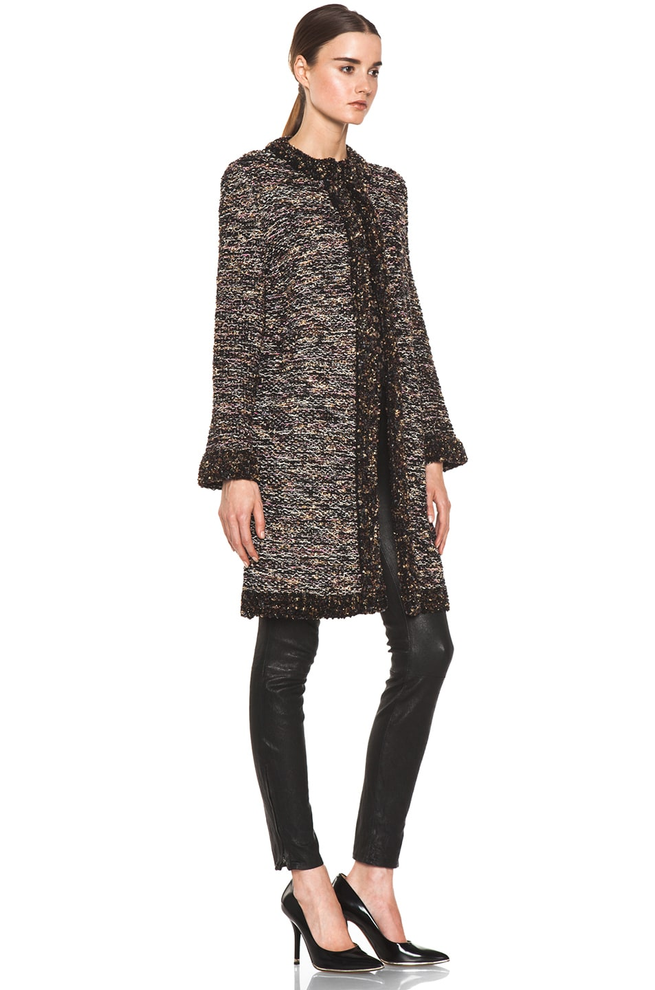 Image 4 of M Missoni Coat in Black Multi