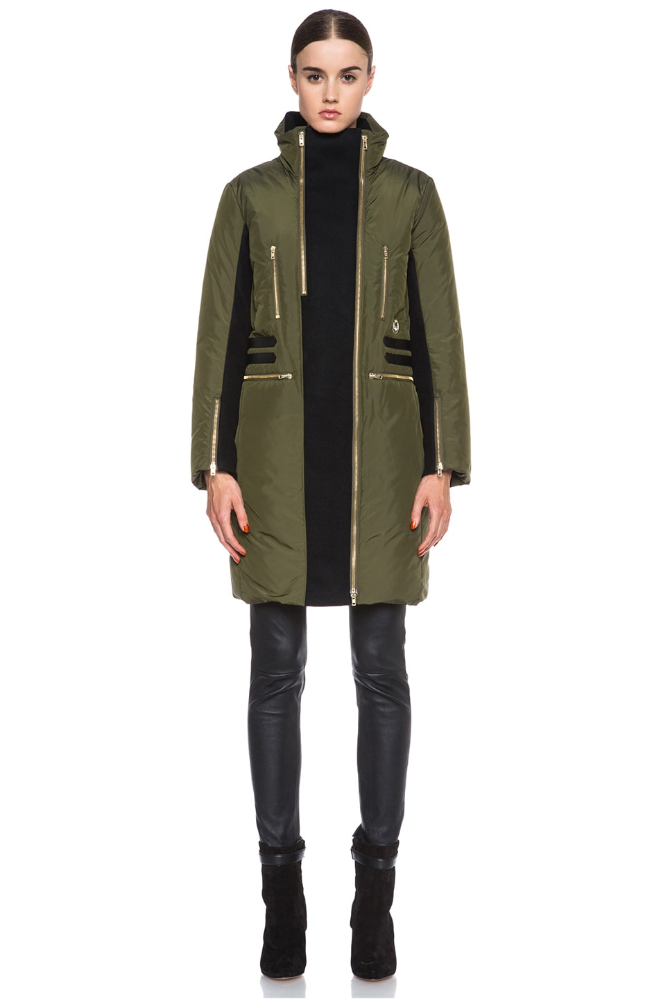 Image 2 of Missoni Solid Poly Puffer Coat in Sage