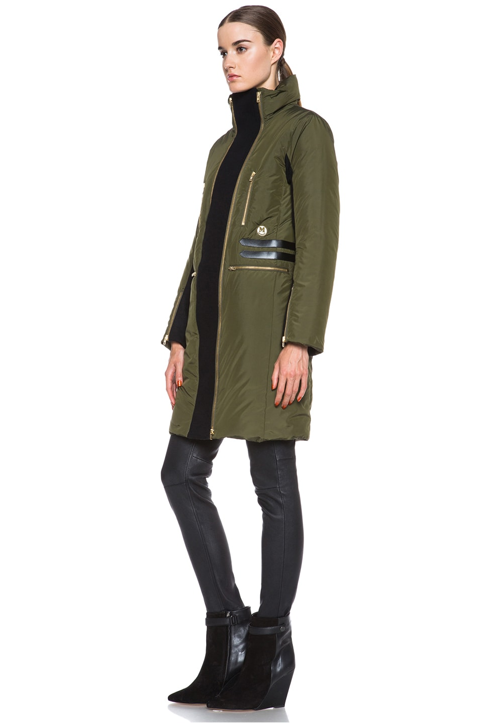 Image 3 of Missoni Solid Poly Puffer Coat in Sage