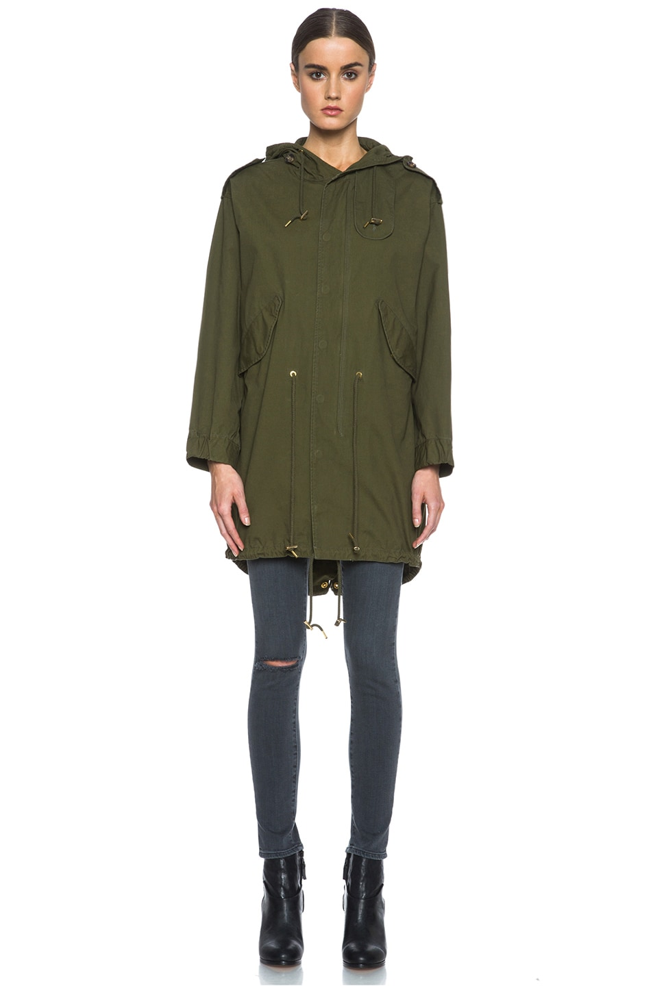 Image 2 of M Missoni Cotton Jacket in Army