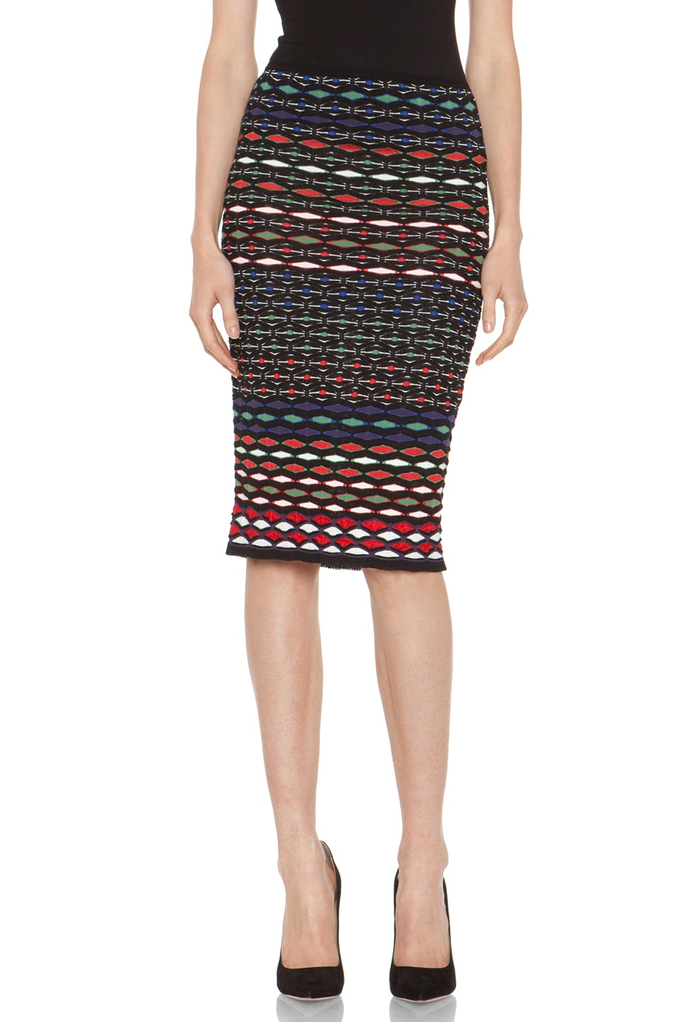 Image 1 of M Missoni Tube Skirt in Royal Multi