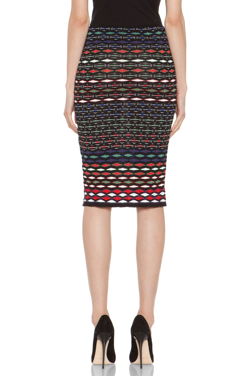 Image 3 of M Missoni Tube Skirt in Royal Multi