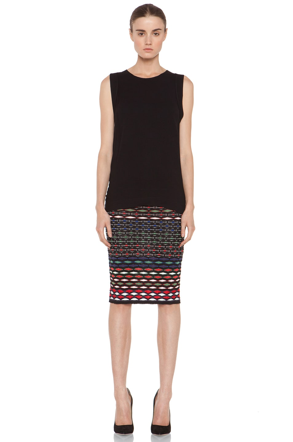 Image 4 of M Missoni Tube Skirt in Royal Multi