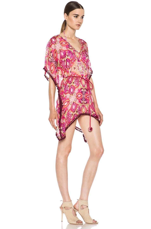 Image 3 of Matthew Williamson Tula Lace Mousseline Kaftan in Pink