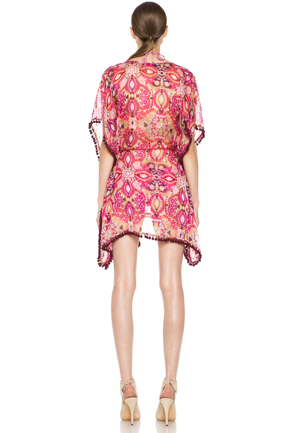 Image 4 of Matthew Williamson Tula Lace Mousseline Kaftan in Pink