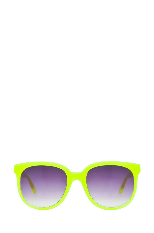 Image 1 of Matthew Williamson Sunglasses in Neon Yellow