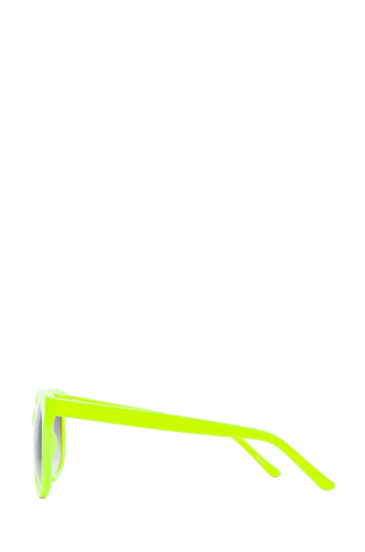 Image 3 of Matthew Williamson Sunglasses in Neon Yellow