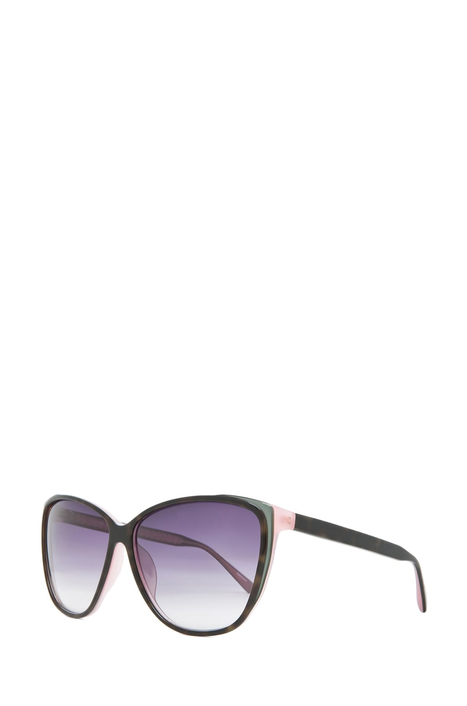 Image 2 of Matthew Williamson Caty Ee Sunglasses in Dusky Purple T Shell
