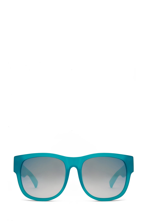 Image 1 of Matthew Williamson Jade to Silver Mirror Lens Sunglasses in Milky Jade