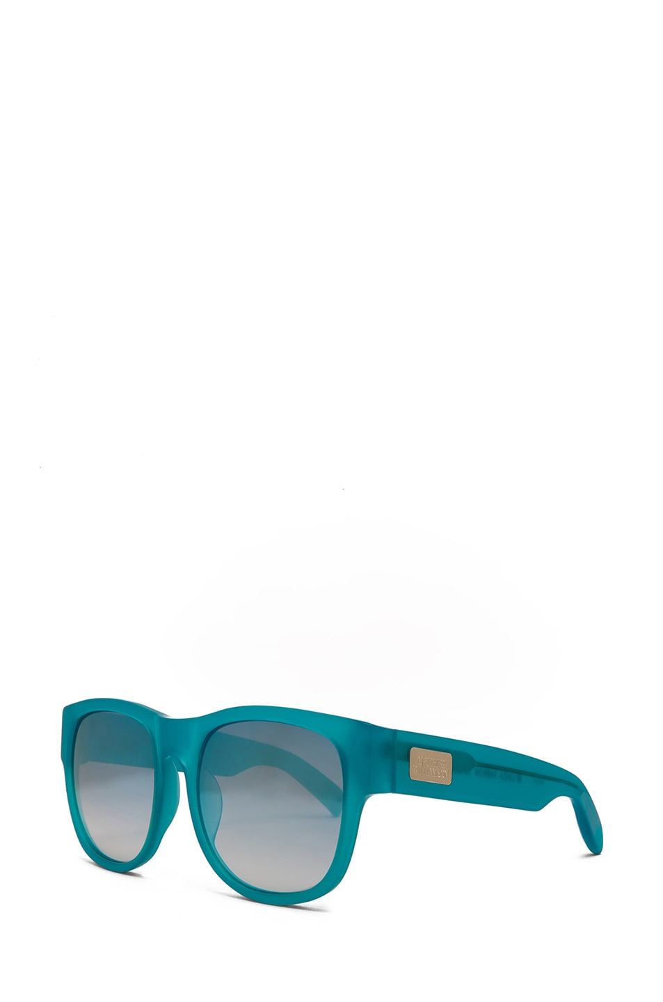 Image 2 of Matthew Williamson Jade to Silver Mirror Lens Sunglasses in Milky Jade