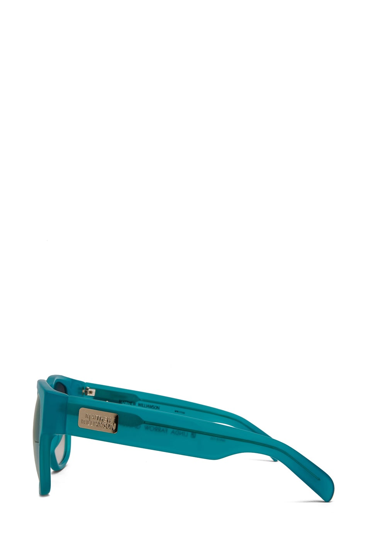 Image 3 of Matthew Williamson Jade to Silver Mirror Lens Sunglasses in Milky Jade