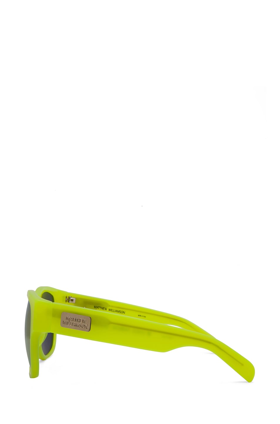 Image 3 of Matthew Williamson Sunglasses with Gold Mirror  in Neon Yellow