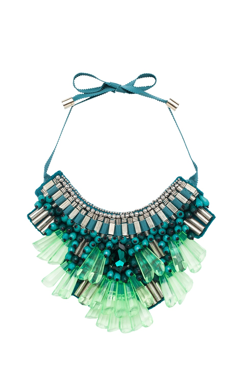 Image 1 of Matthew Williamson Opulent Necklace in Teal