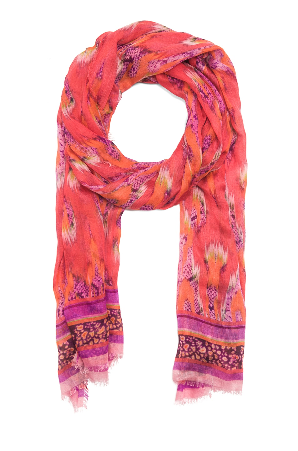 Image 2 of Matthew Williamson Cobra Scarf in Red
