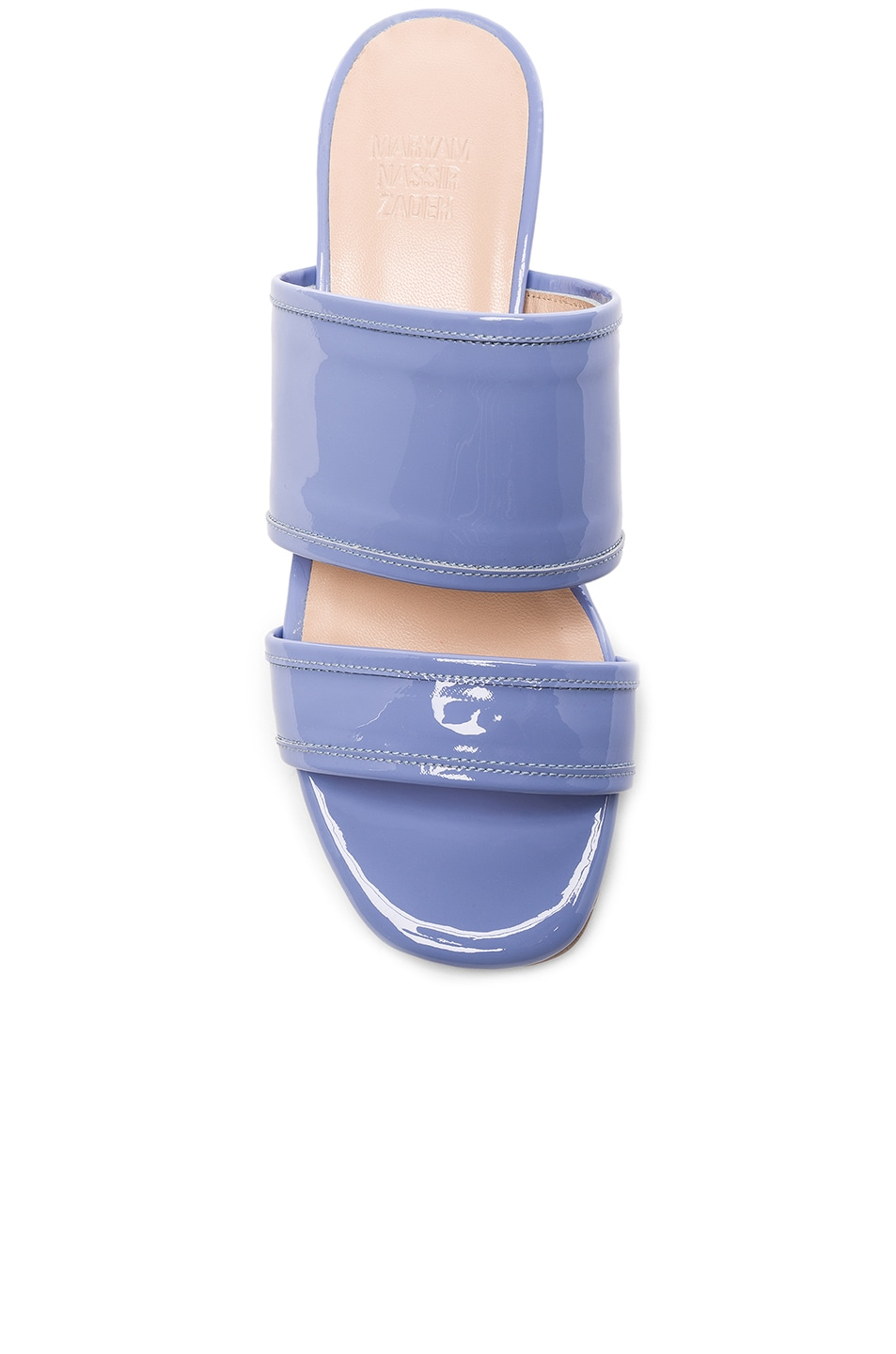 MARYAM NASSIR ZADEH Patent Leather Martina Slide Sandals