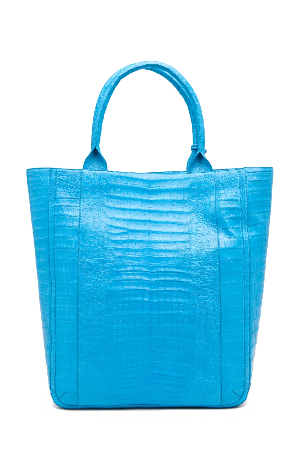 Image 2 of Nancy Gonzalez Crocodile Leaf Tote in Blue